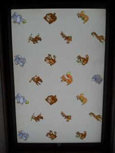Textilní roletka do střešního okna Velux, dětský motiv