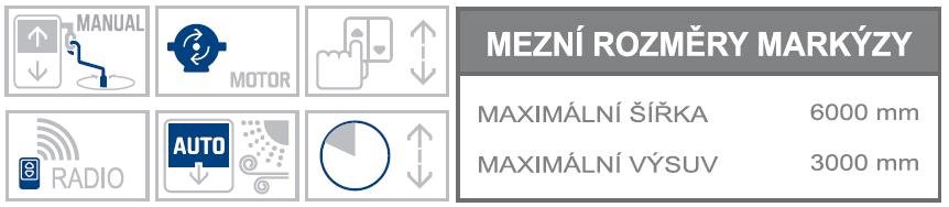 Alanis max rozměry a možnosti ovládání