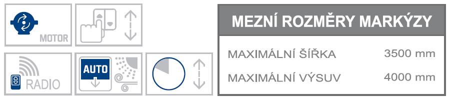 Ghibli 3 max rozměry a možnosti ovládání