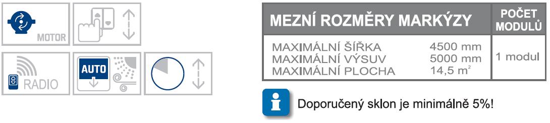 Millenium max rozměry a možnosti ovládání