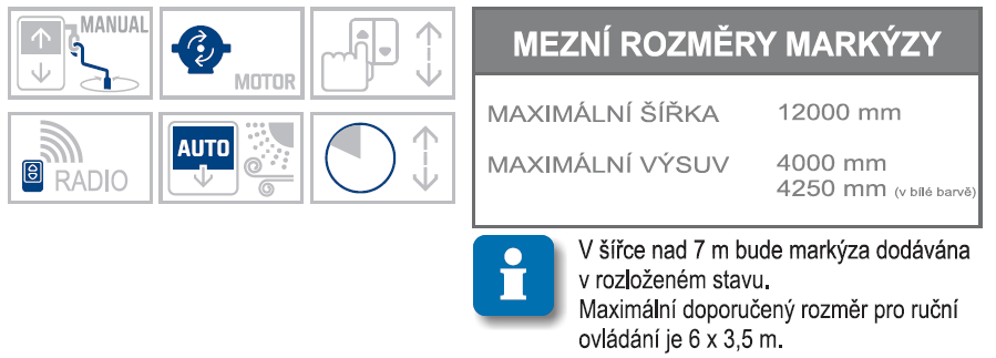 Sircoma max rozměry a možnosti ovládání