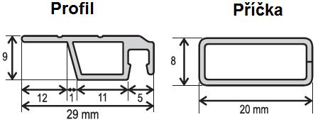 ISSO OE 19x8 nákres + příčka