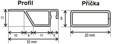 ISSO OE 25x10 nákres + příčka