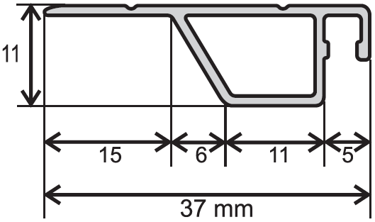 ISSO OE 37x10  nákres