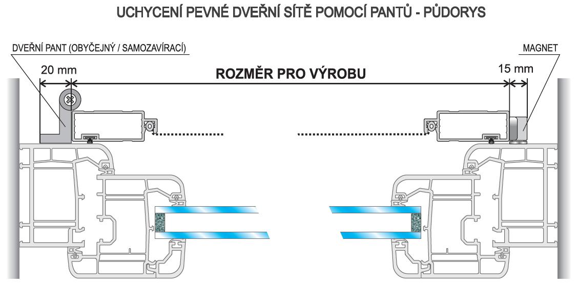 Montáž dveřní sítě DV + DE