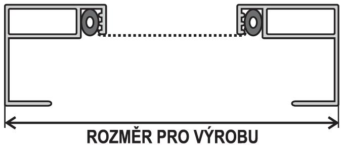 OE 24x24 rozměr pro výrobu
