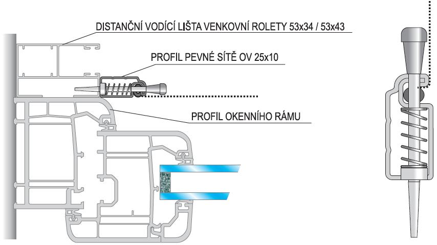 OV 25x10 pružinový kolík na roletu