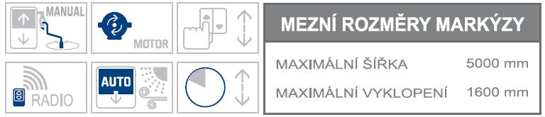 Union K max rozměry a možnosti ovládání