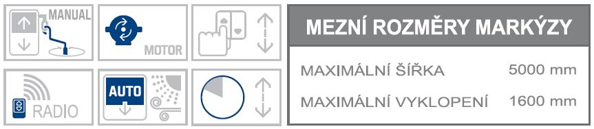Union max rozměry a možnosti ovládání