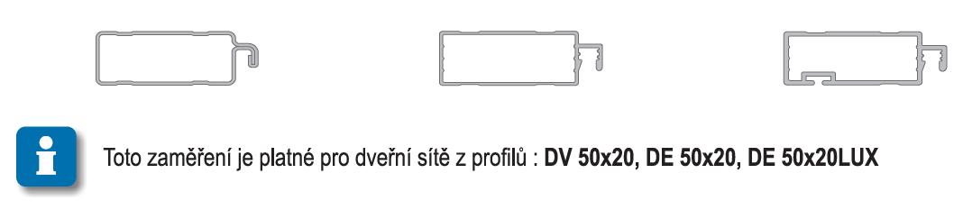 Zaměření dveřní sítě DE +DV 1